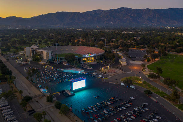 CA: Rose Bowl Hosts Drive-In Movie Theater To Replace Canceled Fourth Of July Fireworks