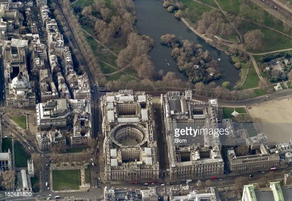aerial view of 10 downing street london pictures getty images. Black Bedroom Furniture Sets. Home Design Ideas