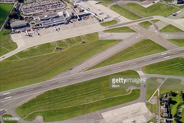 An aerial image of Aberdeen Airport Aberdeen