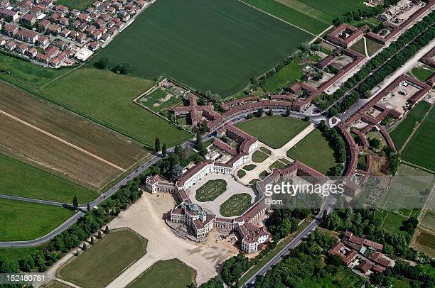 An aerial image of Aerial View Of Palazzina di caccia Of Stupinigi Turin