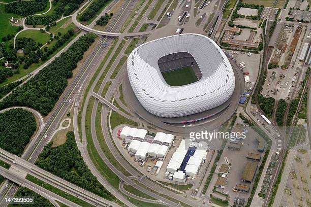 An Aerial image of Allianz Arena, München