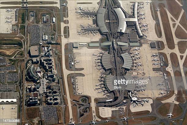 An aerial image of Aéroport RoissyCharles de Gaulle Paris
