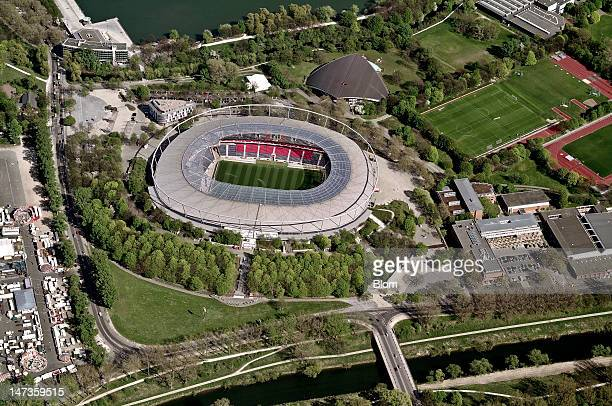 An aerial image of AWD-Arena, Hanover