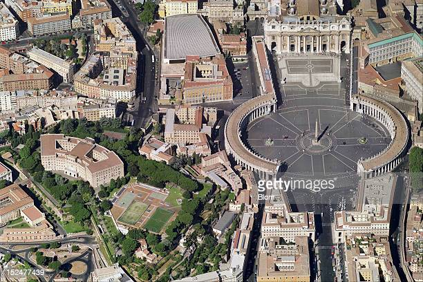 An aerial image of Basilica di San Pietro, Vatican City