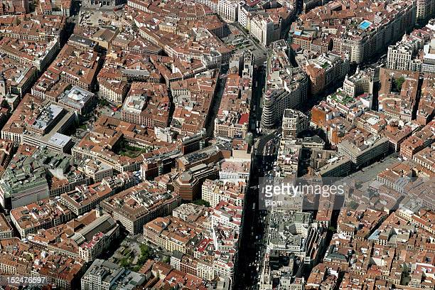 An aerial image of Callao Madrid
