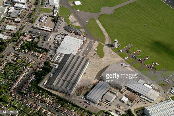 An aerial image of Cambridge Airport, Cambridge