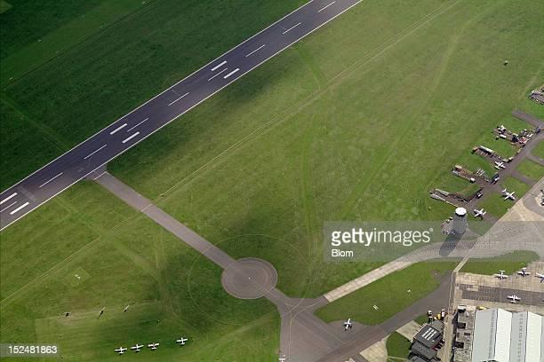 An aerial image of Cambridge Airport Cambridge