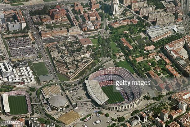 An Aerial image of Camp Nou Barcelona
