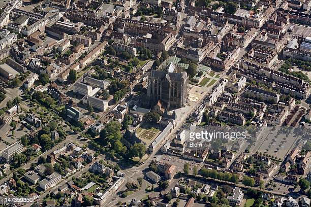 An aerial image of Cathédrale Saint-Pierrede Beauvais, Beauvais