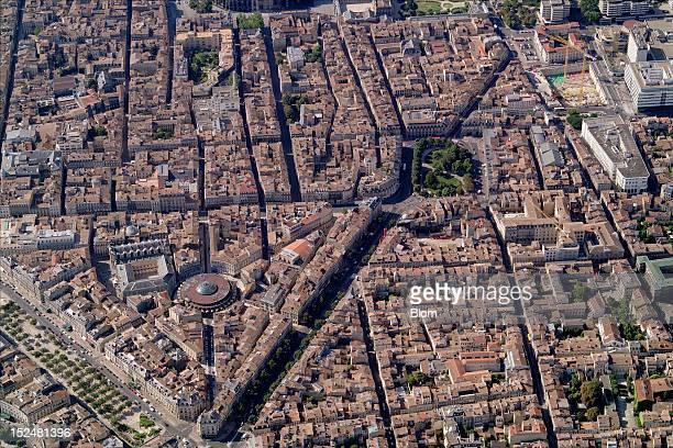 An aerial image of Centre Commercial Les Grands Hommes Bordeaux