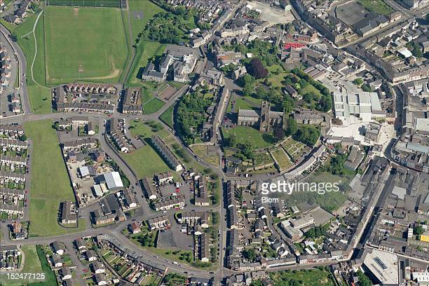 An aerial image of City Center Armagh