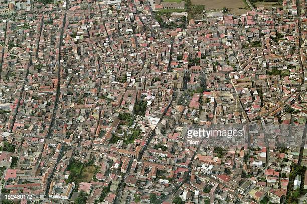 An aerial image of City Center Caivano