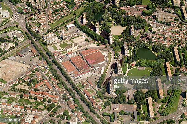 An aerial image of City Center, Chalon-sur-Saone