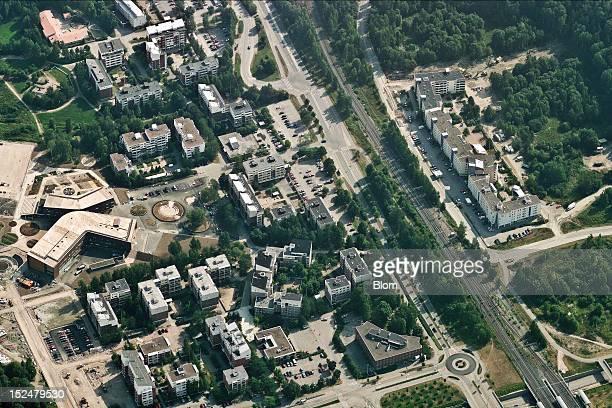 An aerial image of City Center, Espoo