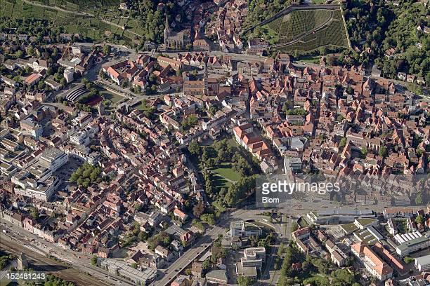 An aerial image of City Center Esslingen am Neckar