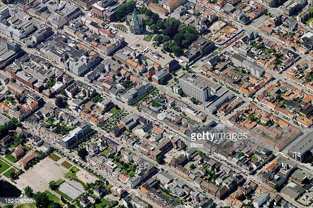 An aerial image of City Center Kristiansand