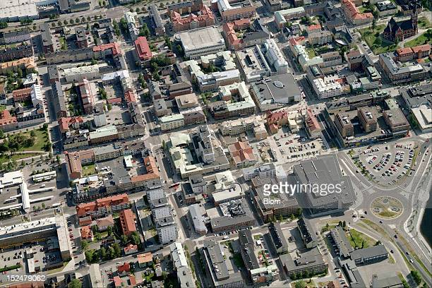 An aerial image of City Center, LuleAa