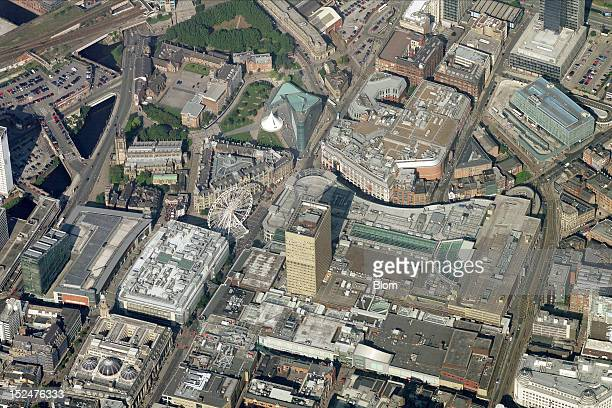 An aerial image of City Center Manchester