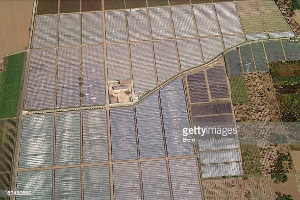 An aerial image of Crop Fields And Farm Napoli