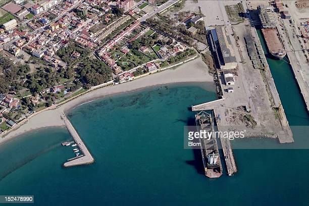 An aerial image of Docks In La Linea La Linea De la Concepcion