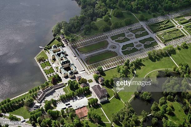 An aerial image of Drottningholm, Ekerö