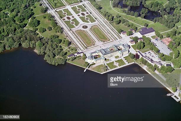 An aerial image of Drottningholm, Ekeroe