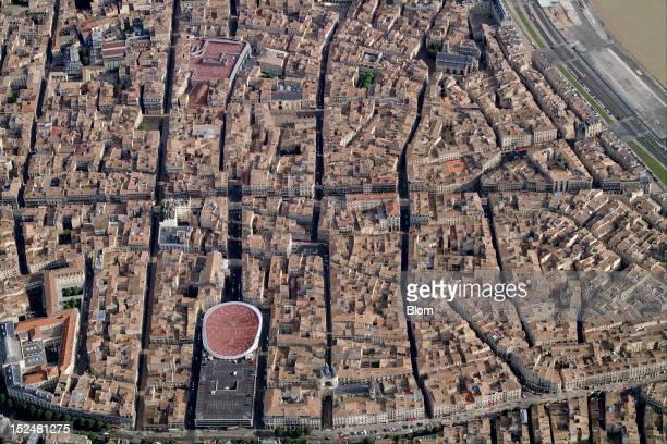 An aerial image of eglise Catholique SaintEloi Bordeaux