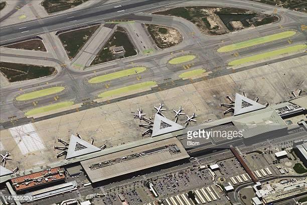 An aerial image of El Prat Airport Barcelona