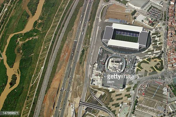 An Aerial image of Estadi CornellàEl Prat Barcelona