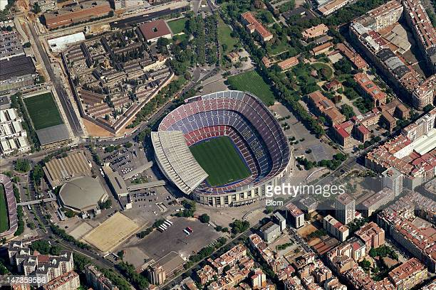 An Aerial image of Estadio Camp Nou Barcelona