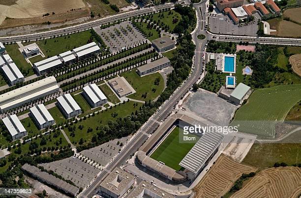 An aerial image of Estadio Reyno de Navarra Pamplona