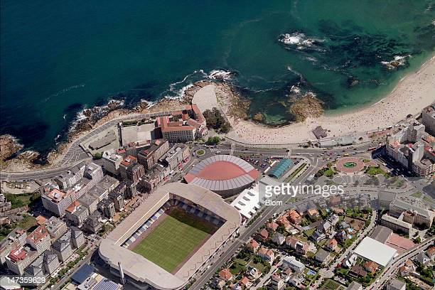 An Aerial image of Estadio Riazor A Coruña