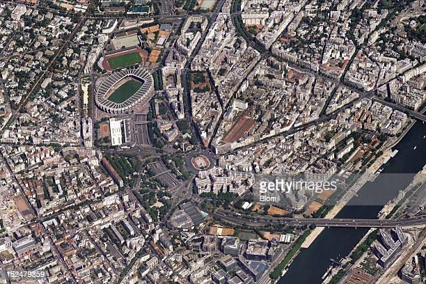 An aerial image of Eurosites Parc Des Princes Paris