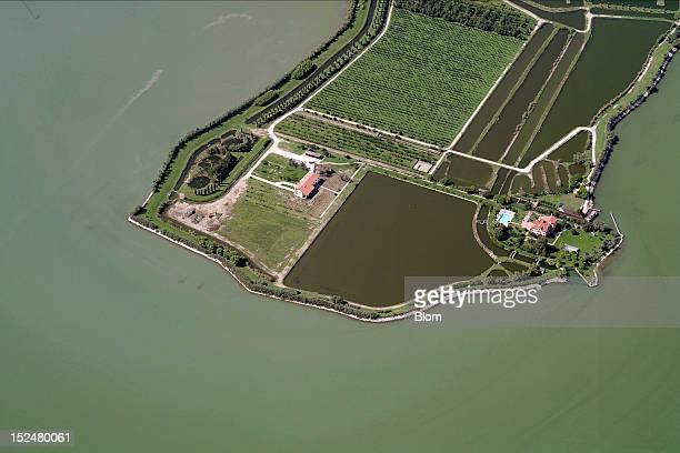 An aerial image of Farm In Laguna Veneta Venezia