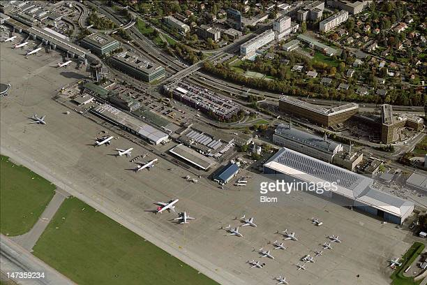 An aerial image of Genève Airport Genève