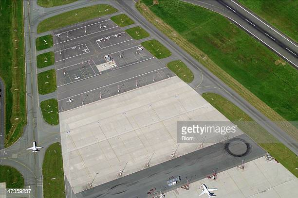 An aerial image of Hamburg Airport Hamburg