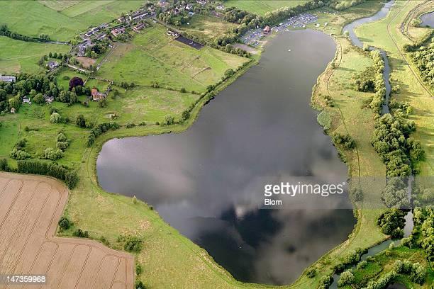 An aerial image of Haversham Milton Keynes