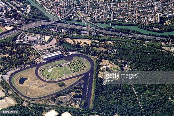 An aerial image of Hippodrome De Vincennes, Paris