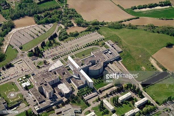 An aerial image of Hopital Du Moenchsberg, Mulhouse