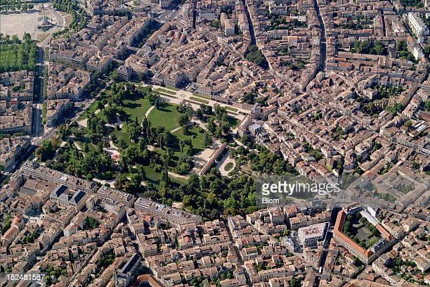 An aerial image of Jardin Botanique Bordeaux
