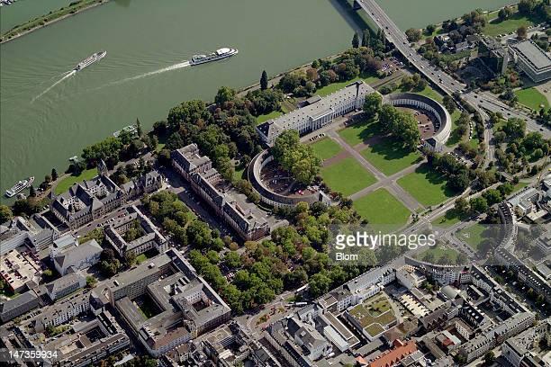 An aerial image of Kurfürstliches Schloss Ludwigshafen