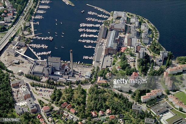 An aerial image of Lappi Marina, Tampere