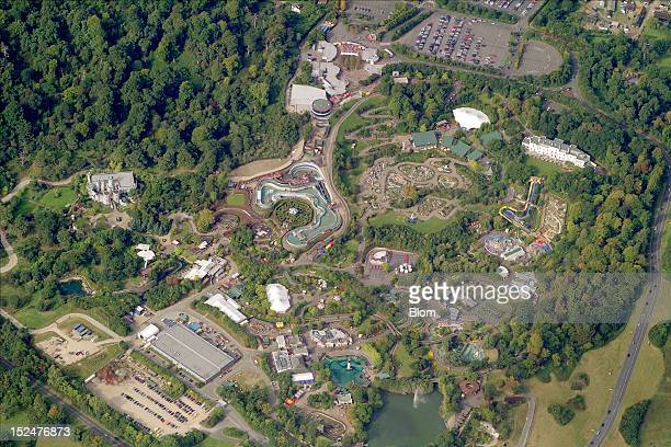 An aerial image of Legoland Windsor