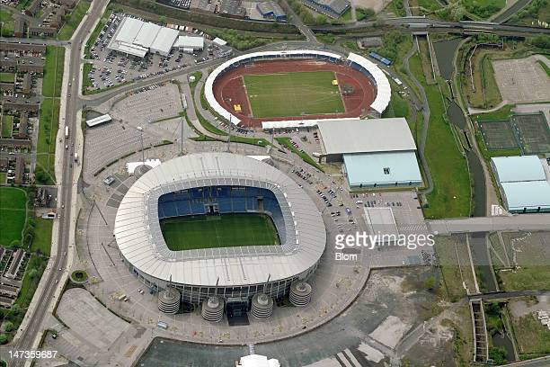 An Aerial image of Manchester CityFC stadium Manchester