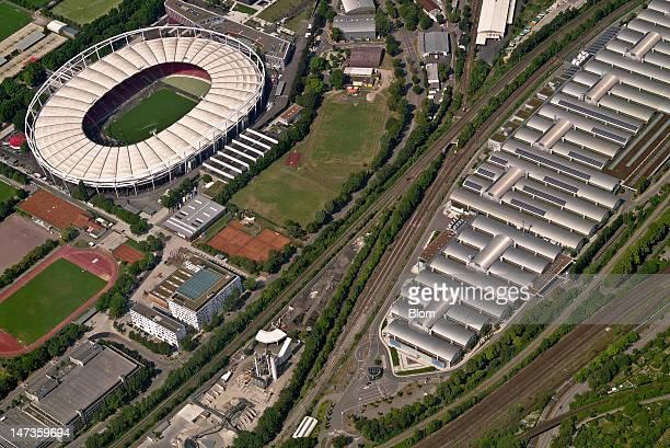 An aerial image of MercedesBenz Arena Stuttgart