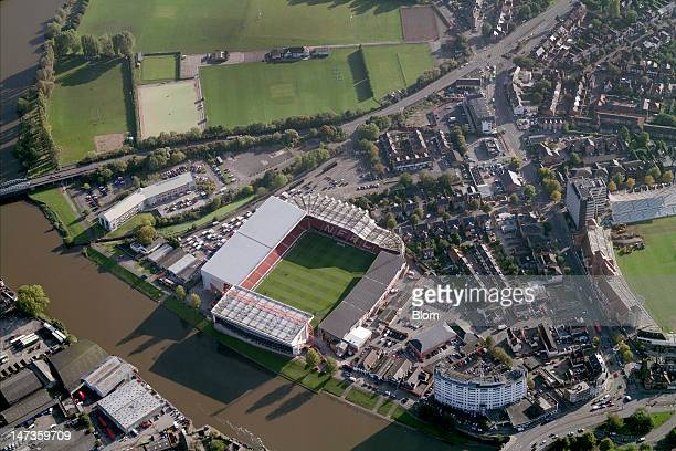 An Aerial image of Nottingham Forest Football Club Nottingham