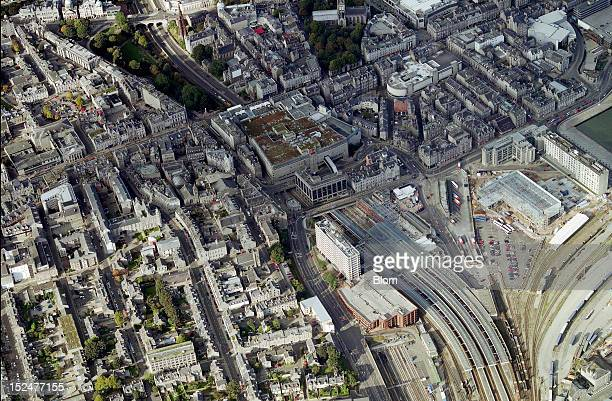 An aerial image of Old Town Aberdeen