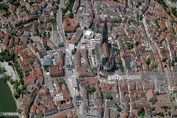 An aerial image of Old Town And Cathedral Ulm