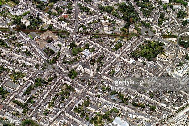 An aerial image of Old Town Angers