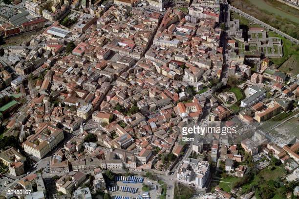 An aerial image of Old Town Benevento